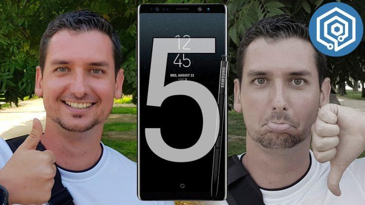 5 cosas que me han gustado y 5 que no del Galaxy Note 8