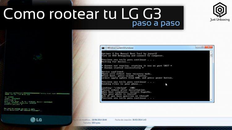 Como rootear tu LG G3 paso a paso