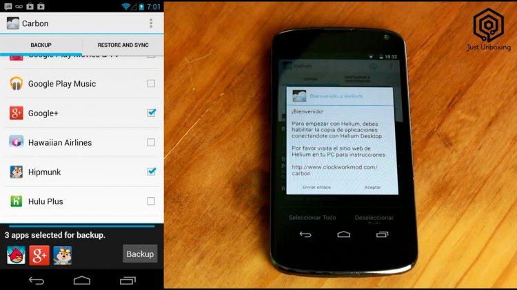 Helium – Haz copias de seguridad de tu Android (sin ser root)