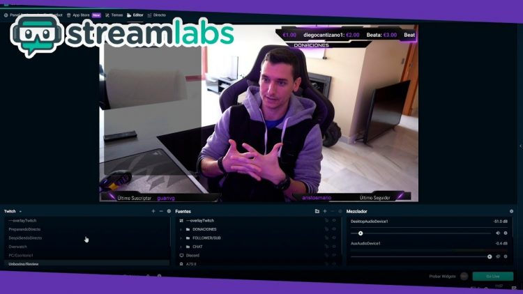 Streamlabs OBS | Tutorial de uso para hacer directos en Youtube/Twitch y grabar gameplays